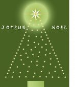 joyeux noel tree with glow and message