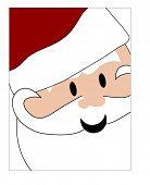 closeup of santa face smiling