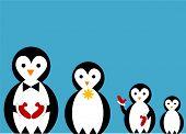 penguin famiy illustration