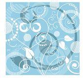fundo fresco com setas funky e ilustração de filigrana