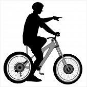 Постер, плакат: велосипед rider силуэт