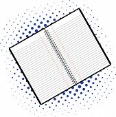 blank coil notebook illustration