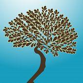 funky tree vector