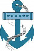 anchor blue vector