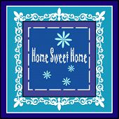 home sweet home picture frame vector