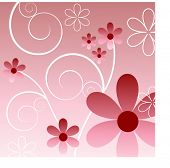 pink flower fun vector