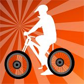 vetor de motociclista de sujeira