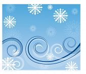 snowy winds vector