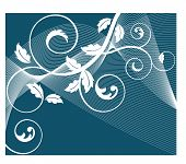funky coil background vector