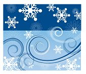water sky and windy snow vector