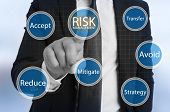 Businessman Touching Virtual Risk Management poster