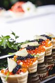 Snacks With Salmon Roe