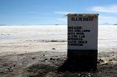 Sinal, ilha de cactos, Salar De Uyuni