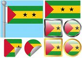 Flag Set Sao Tome And Principe