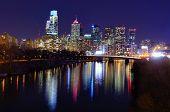 Skyline of downtown Philadelphia, Pennsylvania.