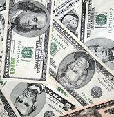American Dollars Very Close Up