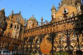 pic of british bombay  - Victoria Terminus Train Station in Mumbai  - JPG
