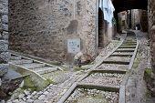 Narrow Stony Street, Italy, Europe