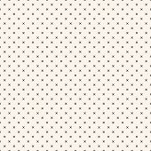 Vector Monochrome Minimalist Geometric Seamless Pattern With Small Squares, Crosses, Tiny Flower Sha poster
