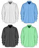 stock photo of button down shirt  - Color dress shirts  - JPG