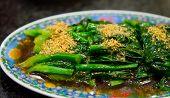 Rühren gebraten chinesischer Senf Grün