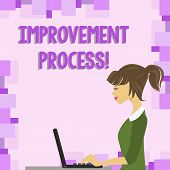 Word Writing Text Improvement Process. Business Concept For Ongoing Effort To Improve Products And S poster