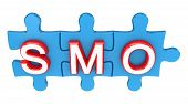 Puzzle with a word SMO.