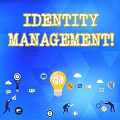 Handwriting Text Identity Management. Concept Meaning Administration Of Individual Identities Within poster