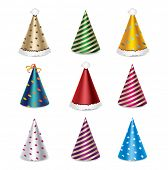 image of party hats  - Party hat set - JPG