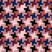 Abstract Modern Textured Hounds Tooth Checked Motif. Seamless Pattern poster