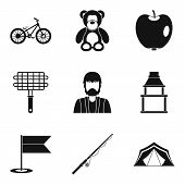 Home Environment Icons Set. Simple Set Of 9 Home Environment Icons For Web Isolated On White Backgro poster