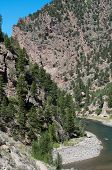 Gunnison River enters the Black Canyon