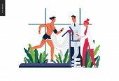 Medical Tests Template - Cardiac Stress Test -modern Flat Vector Concept Digital Illustration Of Str poster