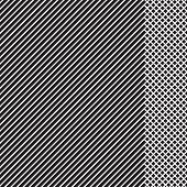 Geometric Striped Pattern With Black Continuous Lines With Checkered Insert On White Background. Vec poster