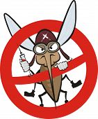 angry mosquito - warning sign