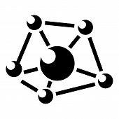 Molecule Lab Icon. Simple Illustration Of Molecule Lab Icon For Web poster