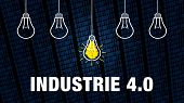 Banner Graphic - Industrie 4.0 - German Text - Translation: Industry 4.0 poster
