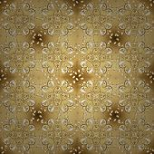 Traditional Orient Ornament. Classic Vintage Background. Seamless Classic Vector Golden Pattern. Sea poster