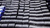 Steel Coils In Cargo Ship, Raw Material Of Steel Wire Import From Oversea By Sea Shipment, Black Car poster