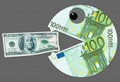 Euro wants to eat dollar