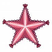 Starfish Icon. Cartoon Illustration Of Starfish Icon For Web poster