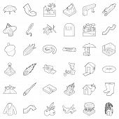 Atmospheric Icons Set. Outline Set Of 36 Atmospheric Icons For Web Isolated On White Background poster