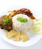 stock photo of nasi  - Famous malaysian food nasi lemak - JPG