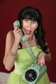 Shocked Woman On Phone