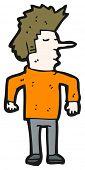 man with long nose cartoon (raster version)