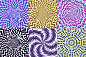 Psychedelic Spiral. Optical Illusion, Delusion Spirals And Colorful Abstraction Hypnosis Spiral Vect poster