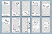 Torn Paper Stories Template. Paper Scraps Social Media Story Posts Branding, Minimal Trends Photo Fr poster