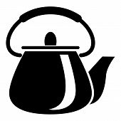 Domestic Teapot Icon. Simple Illustration Of Domestic Teapot Icon For Web poster