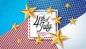 4th Of July Independence Day Of The Usa Vector Illustration. Fourth Of July American National Celebr poster