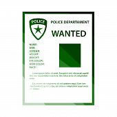 Wanted Poster Icon. Flat Color Ladder Design. Vector Illustration. poster